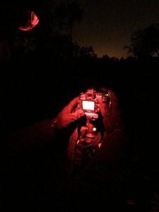nacht fotograaf aan het werk