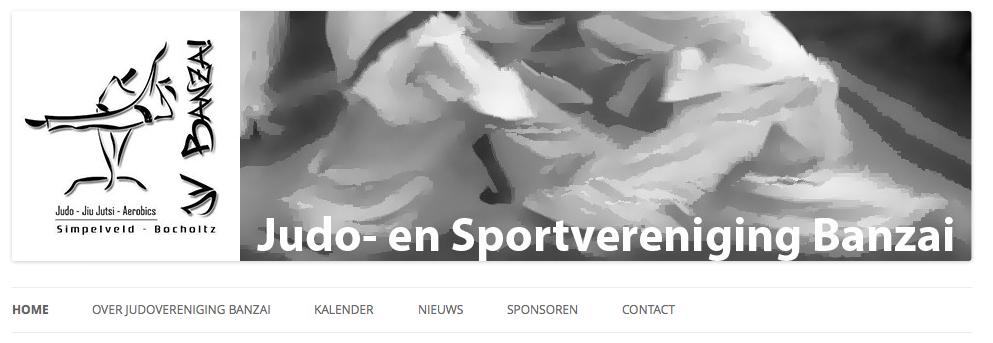 Een website voor Judo Banzai