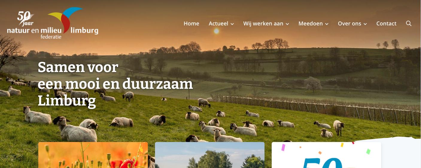 nieuwe website NMF Limburg