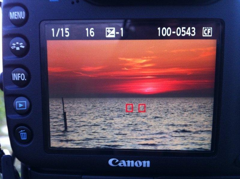Zonsondergang op de LCD