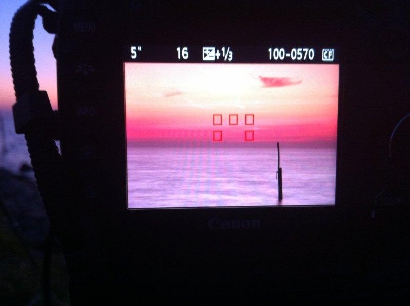 Een ruwe foto op de LCD