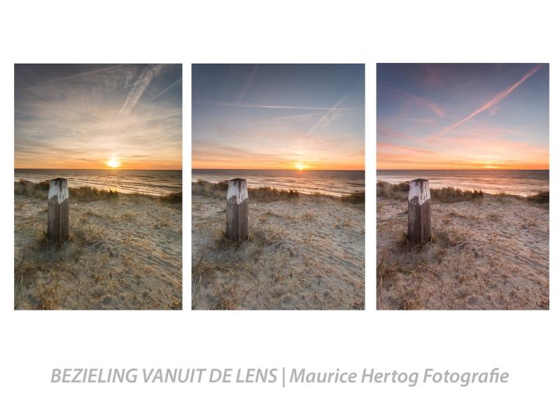 Een lenteavond op Texel als drieluik