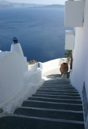 Zeezicht, Fira (Santorini)