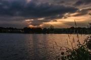 Het regent zonnestralen (Lac d'Aillette, Frankrijk)