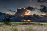 Stralende wolken (NP Lauwersmeer, Friesland)