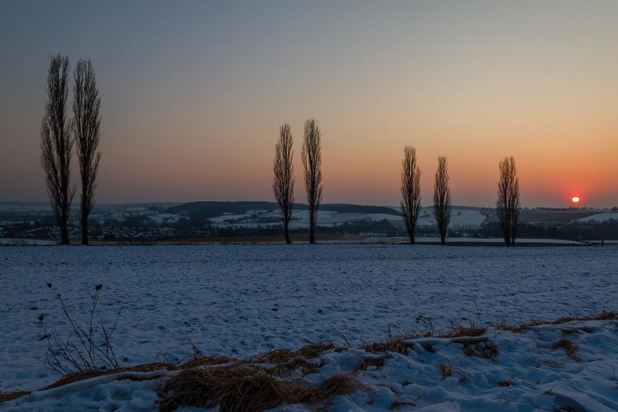 01021001 - Winterse zonsondergang