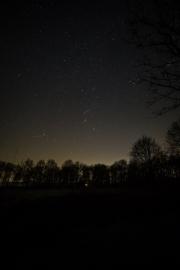 Orion boven de velden