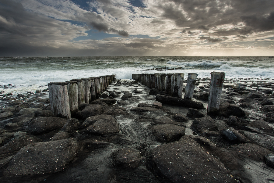 De ruige zee, Westkapelle