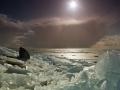 Krakend ijs (Markermeer, Flevoland)