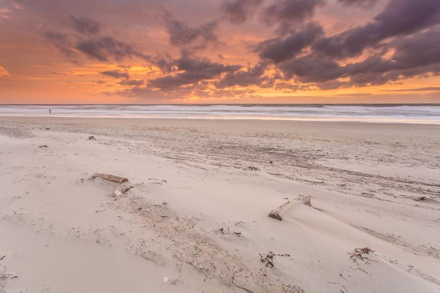 Het strand na de storm, Texel