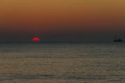 00092802 - Texelse zonsondergang, Den Hoorn