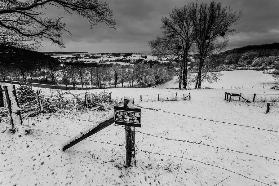 Heuvels in de sneeuw